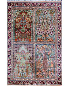 Regular Kashmir silk carpet 2'x3'